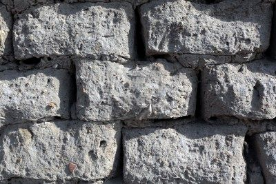 Ancient Bricks Of Sand Glutinous Rice And Rice Hulls