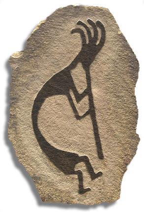 Cast stone kokopellis by spagyricarts.com