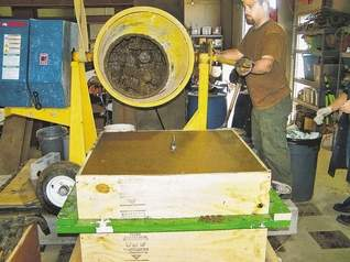 5,000 lb. geopolymer block: Researchers at Tech developing a new type of concrete from 'fly ash'