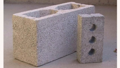 Hollow core blocks and bricks can be made with geopolymer.