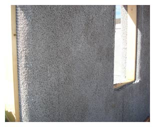 Pumice-crete wall