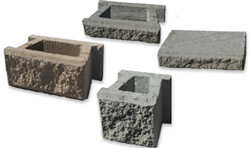 Stone textured hollow blocks