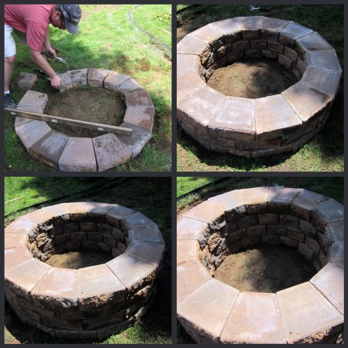 How to build a firepit with pavers