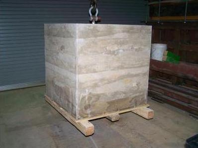 Geopolymer test block