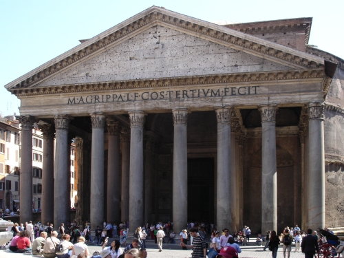 The Pantheon in Rome, the largest unreinforced concrete dome, stands after 2000 years.